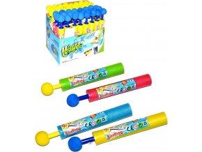Pistole vodní dětská 21cm soft eva pěnová trubice na vodu 4 barvy