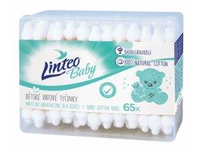 Vatové tyčinky k čistění uší Linteo Baby
