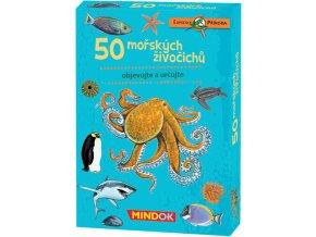 MINDOK HRA kvízová Expedice Příroda: 50 mořských živočichů naučná