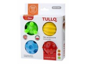 TULLO Edukační barevné míčky 4ks v krabičce