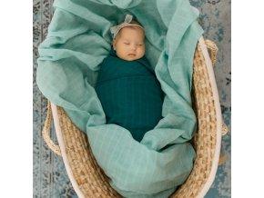Tommy Lise Bavlněná mušelínová plena Dreamy Green 70x70cm