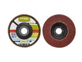 Kotouč lamelový šikmý korundový, P100, 125mm, KORUND, EXTOL CRAFT 260030
