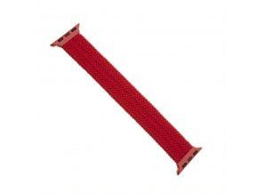 Řemínek FIXED Nylon Strap elastický nylonový pro Apple Watch 42/44mm, velikost S, červený