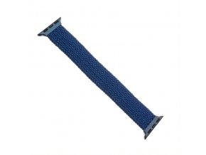 Řemínek FIXED Nylon Strap elastický nylonový pro Apple Watch 42/44mm, velikost S, modrý