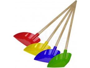 LENA Lopata plastová s dřevěným úchytem 60cm 4 barvy 5477