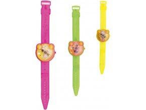 Hodinky dětské barevné 19cm veselé s obličejem různé druhy plast