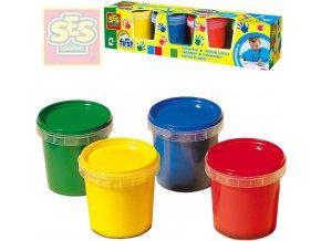 SES CREATIVE Baby moje první barvy prstové set 4 tuby 150ml smývatelné