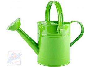 WOODY Konev dětská kropící zelená 29cm plechová 1,5 l s kropítkem