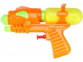 Pistole vodní 17cm se zásobníkem na vodu plast 3 barvy v sáčku