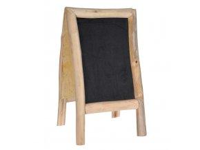 Tabule křídová oboustranná teakové dřevo 40 x 70 cm