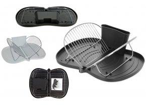 Odkapávač na nádobí skládací plast/chrom EXCELLENT KO-170412790
