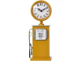 Hodiny stolní RETRO PUMPA 13 x 33 cm žlutá