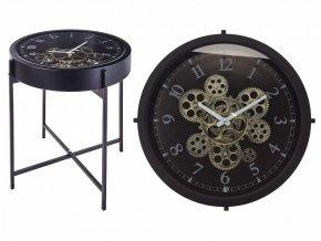 Konferenční stolek s hodinami HOMESTYLING 42 x 42 cm