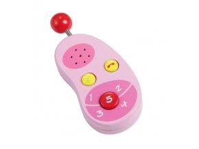 Classic world Dřevěný růžový mobilní telefon