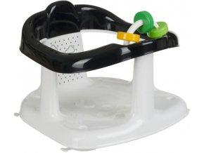 Maltex Sedátko do vany s hračkou Panda - černá/bílá