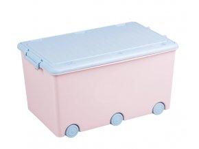 Tega Baby Pojízdný box na hračky Zajíček - růžový