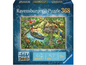 RAVENSBURGER Kids Hra puzzle únikové Džungle 368 dílků 70x50cm skládačka 2v1