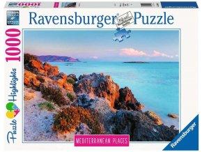 RAVENSBURGER Puzzle Řecko 1000 dílků 70x50cm foto skládačka
