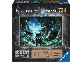 RAVENSBURGER Hra puzzle únikové Vlk 759 dílků 70x50cm skládačka 2v1