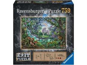 RAVENSBURGER Hra puzzle únikové Jednorožec 759 dílků 70x50cm skládačka 2v1