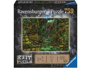 RAVENSBURGER Hra puzzle únikové Tajemný chrám 759 dílků 70x50cm skládačka 2v1