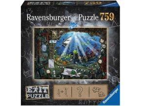 RAVENSBURGER Hra puzzle únikové V ponorce 759 dílků 70x50cm skládačka 2v1