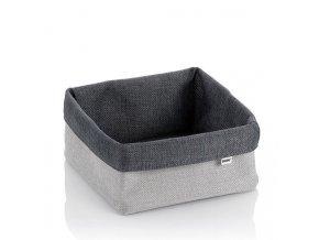 Košík úložný do koupelny PALMA 19x19x10cm šedá