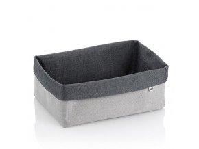 Košík úložný do koupelny PALMA 29.5x20.5x12cm šedá