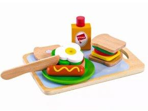 Eco Toys Dřevěná sada - Snídaně