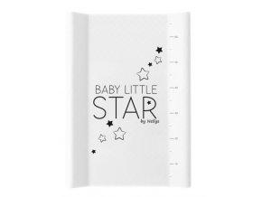 NELLYS Přebalovací podložka , tvrdá MDF, vyvýšené boky, BABY STAR, 50 x 70cm, bílá