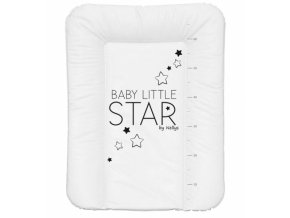NELLYS Přebalovací podložka, měkká, BABY STAR, 70 x 50cm, bílá