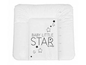 NELLYS Přebalovací podložka, měkká, BABY STAR, 85 x 72cm, bílá