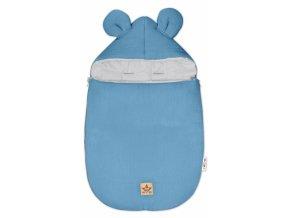 Baby Nellys Luxusní lehoučky mušelínový fusak, 90 x 50 cm, modrý