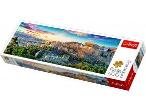 TREFL PUZZLE Panoramatické foto Řecko Acropolis skládačka 66x23,5cm 500 dílků