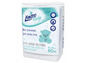 LINTEO BABY Čistící vatové polštářky 60 ks v balení