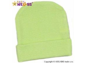 Baby Nellys Novorozenecká čepička - zelená