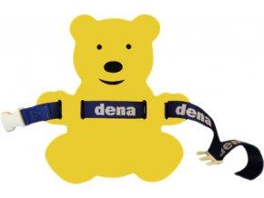 MATUŠKA-DENA Pás plavecký medvídek 28x30cm žluto-modrý