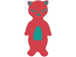 MATUŠKA-DENA Plovák deska plavecká kočka 40x25cm červená pruhovaná
