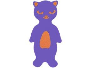 MATUŠKA-DENA Plovák deska plavecká kočka 40x25cm fialová pruhovaná