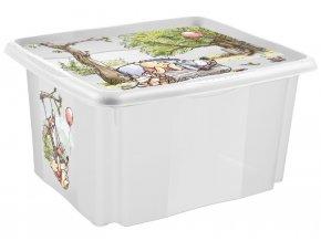 Keeeper Box na hračky Medvídek Pú a přátelé 24 l - transparentní
