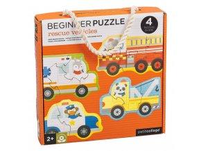 Petit Collage Puzzle záchranná vozidla