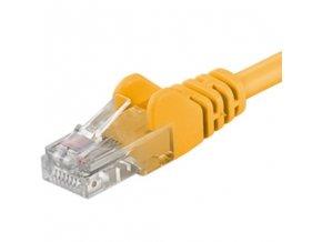 Patch kabel UTP Cat 6, 0,25m - žlutý
