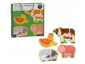 Petit Collage První puzzle zvířátka z farmy