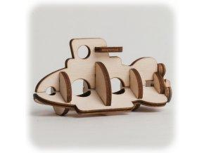 CuteWood Dřevěné 3D puzzle Ponorka