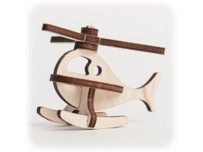 CuteWood Dřevěné 3D puzzle Vrtulník