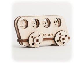 CuteWood Dřevěné 3D puzzle Autobus
