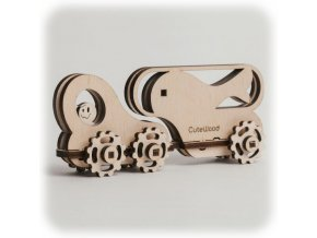 CuteWood Dřevěné 3D puzzle Rybí vůz