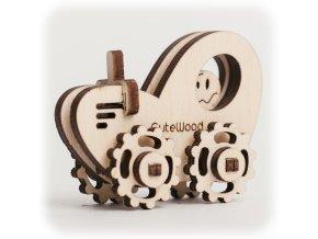 CuteWood Dřevěné 3D puzzle Traktor