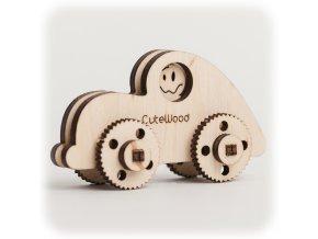 CuteWood Dřevěné 3D puzzle Auto