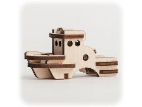 CuteWood Dřevěné 3D puzzle Loď